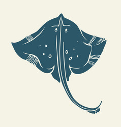 stingray icon isolated vector image