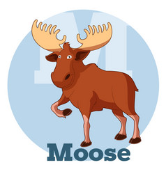 abc cartoon moose vector image vector image