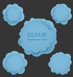 Abstract blue clouds Template for a text vector image vector image