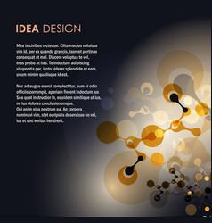 Abstract molecules design vector