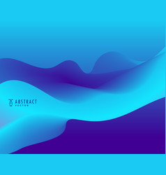 blue background with wavy shape vector image vector image
