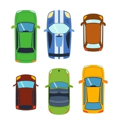 Car vehicle top view vector image