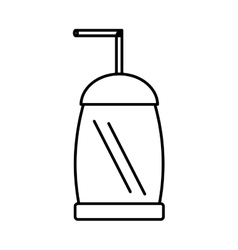 Drink soda isolated icon vector