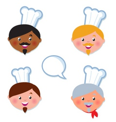 international cook chef icons vector image vector image