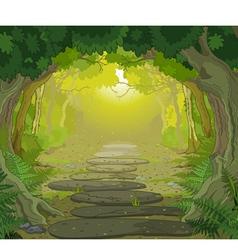 Magic landscape entrance vector image vector image