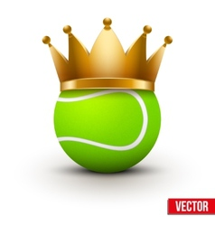Tennis ball with royal crown vector image