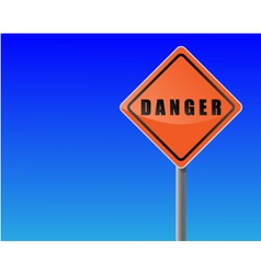 traffic sign danger sky background vector image vector image