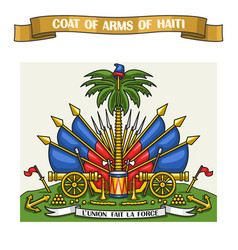 haitian coat of arms vector image