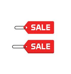 sale badge icon flat design discount tag vector image