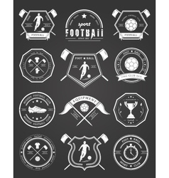 Set of Football Badge vector image vector image