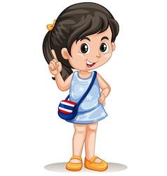 Thai girl with handbag vector image vector image
