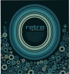 Abstract retro disco background vector