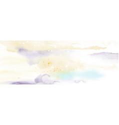 abstract yellow light sky watercolor vector image