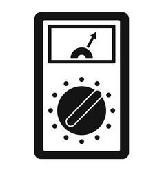 Analog multimeter icon simple style vector