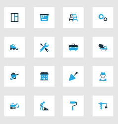Architecture colorful icons set collection of vector