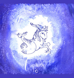 Astrology sign capricorn vector