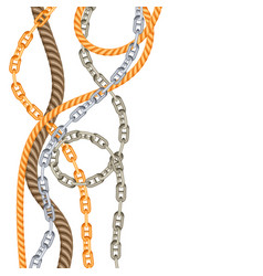 Background with old chains and ropes vector