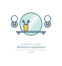 Bath equipment colorful concept vector image