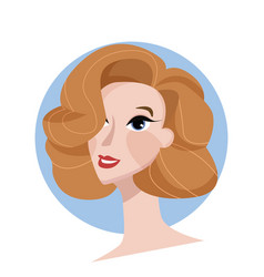 beauty or hair salon concept portrait woman vector image