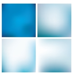 Blurred Blue Backgrounds Set vector image
