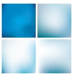 Blurred Blue Backgrounds Set vector