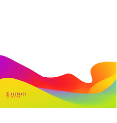 Bright vibrant color abstract background design vector