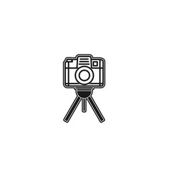 camera icon logo designs inspiration isolated on vector image
