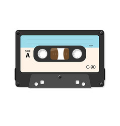 Cassette tape in retro styl vector