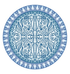 circular ornamental pattern vector image