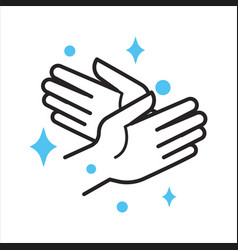 clean hands personal hygiene and self protection vector image