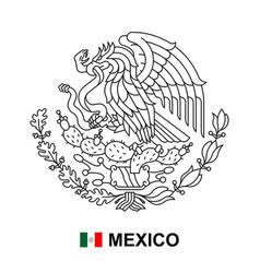 coat arms mexico vector image