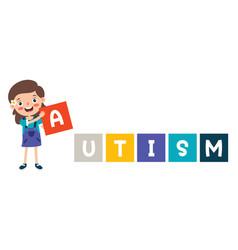 Concept drawing autism awareness vector