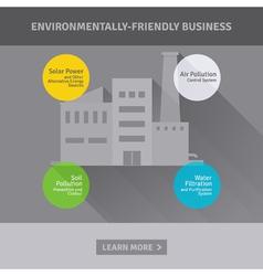 Concept environmentally-friendly business vector