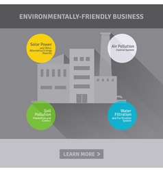 Concept of environmentally-friendly business vector image vector image