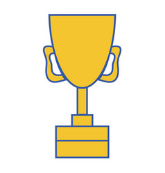 cup prize symbol to winner of competition game vector image