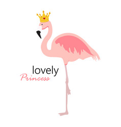 cute little lovely princess background with pink vector image
