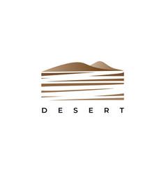Desert logo design template vector