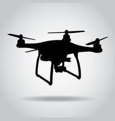 drone black icon camera picture video vector image