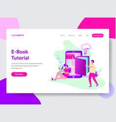 e-book tutorial concept vector image
