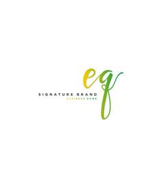 E q eq initial letter handwriting and signature vector