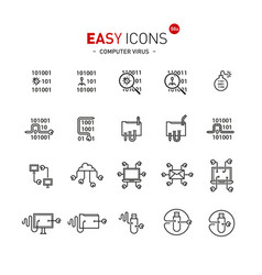 Easy icons 50a computer virus vector