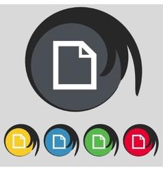 Edit document sign icon content button Set vector image