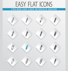 edit icon set vector image