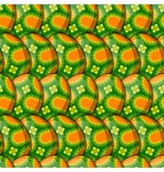 Egg floral curl pattern vector