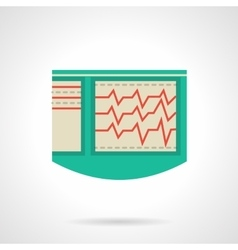 Electrocardiograph flat color icon vector