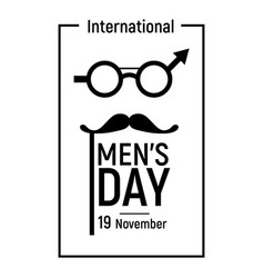 elegant mens day icon simple style vector image