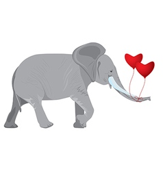 Elephant and balloons vector image