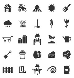 Farming icons on white background vector