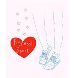 fitness sport vector image