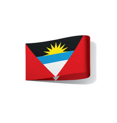 Flag of antigua and barbuda vector